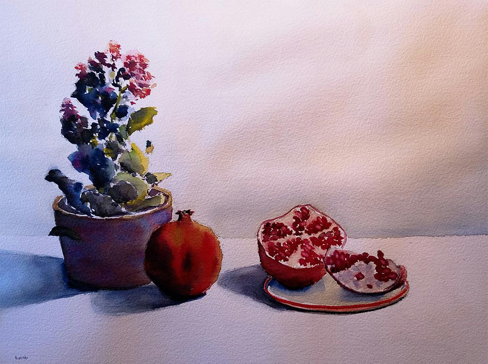 Study of Pomegranates No. 3
