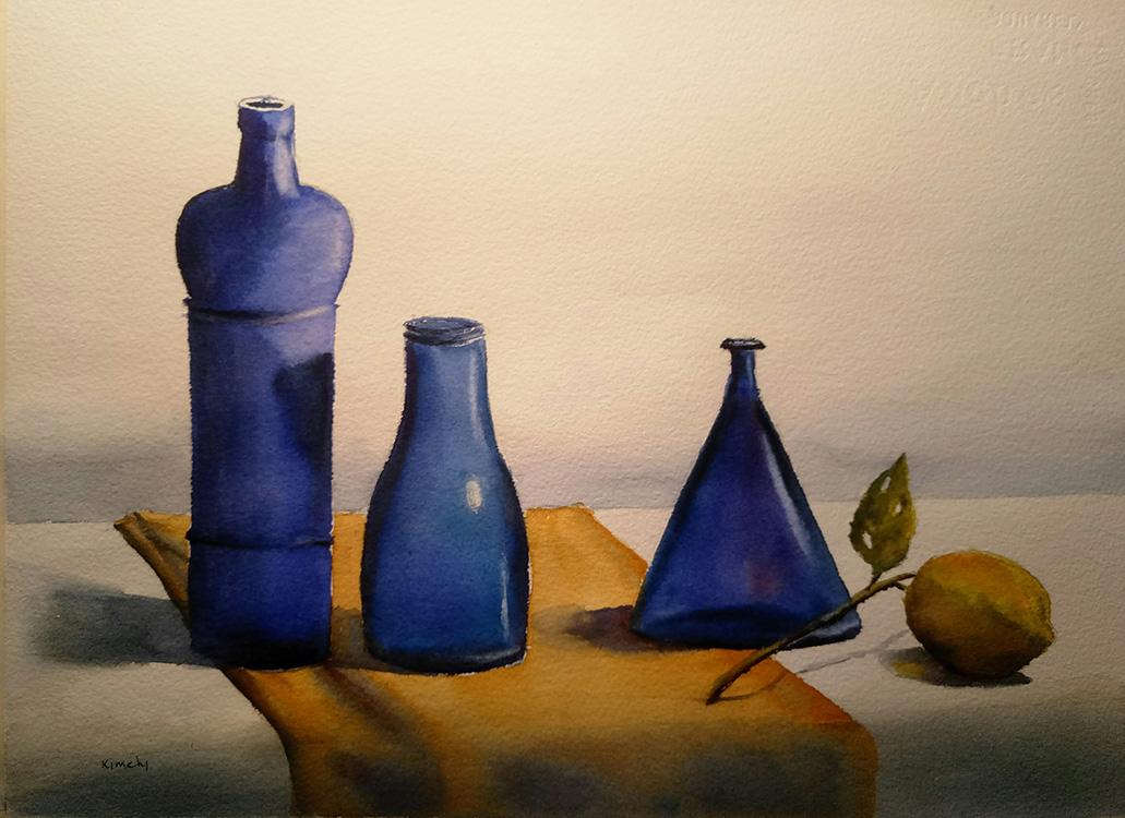 Composition of Blue Bottles